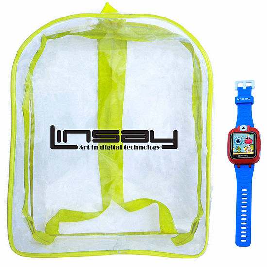 Linsay 15 Kids Blue Smart Watch With Bag