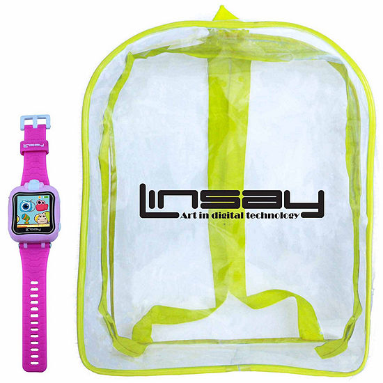 Linsay 1.5 Kids Pink Smart Watch With Bag