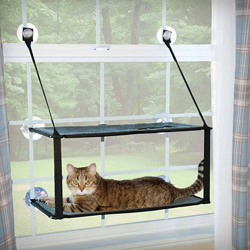 """K & H Manufacturing Kitty Sill Double Stack Ez Window Mount, 12"""" x 23"""""""