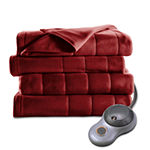 Sunbeam Heated Quilted Fleece Heavyweight Electric Blanket