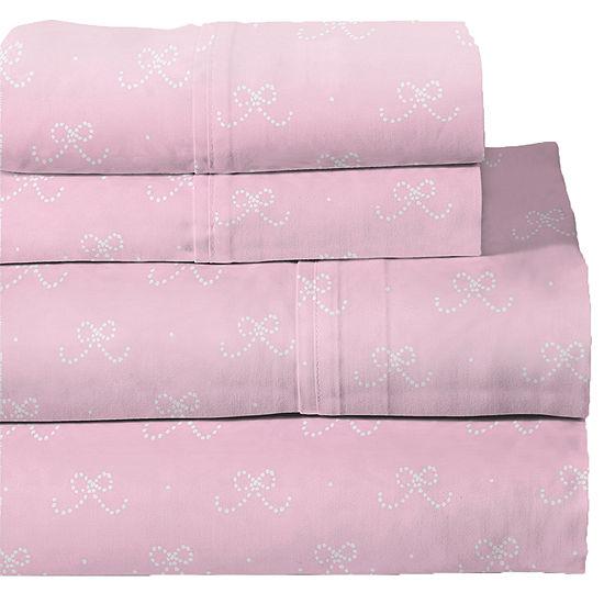 Lullaby Bedding Ballerina Print Sheet Set