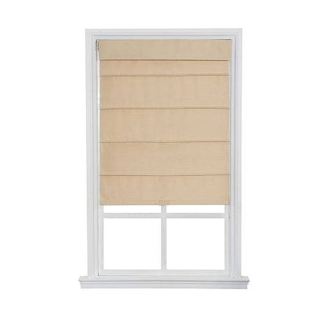 JCPenney Home Cordless Fauxsilk Roller Roman Shades, One Size , White