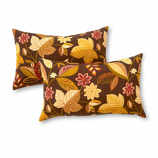 Greendale Home Fashions Rectangle Outdoor Accent Pillows - Set of 2