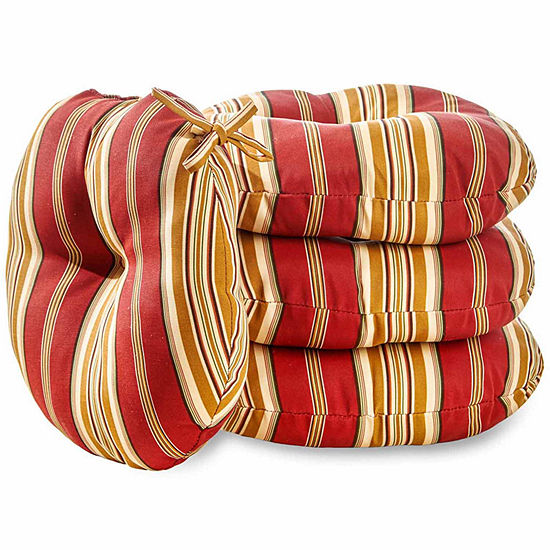 """Greendale Home Fashions 15"""" Round Bistro Patio Seat Cushion - Set of 4"""""""