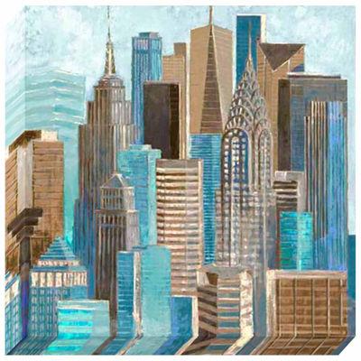 Pinnacle A Walk In The City Canvas Art