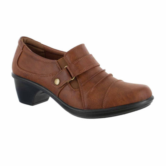 Easy Street Womens Mika Shooties Elastic Round Toe