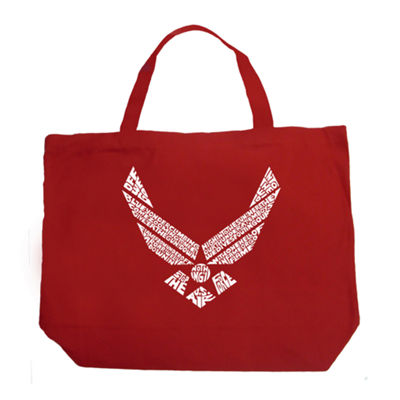 Los Angeles Pop Art Lyrics To The Air Force Song Tote
