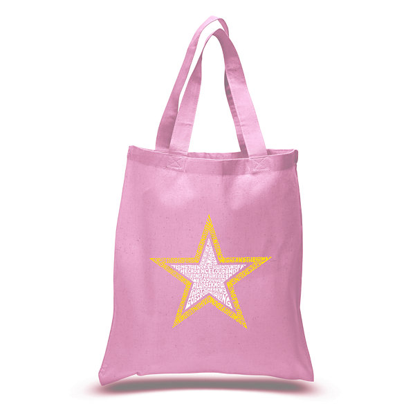 Los Angeles Pop Art Lyrics To The Army Song Tote