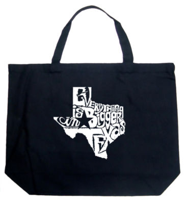 Los Angeles Pop Art Everything Is Bigger In Texas Tote