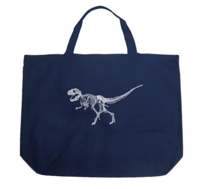 Los Angeles Pop Art Dinosaur T-Rex Skeleton Tote