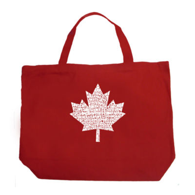 Los Angeles Pop Art Canadian National Anthem Tote