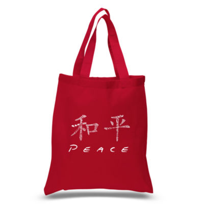 Los Angeles Pop Art Chinese Peace Symbol Tote