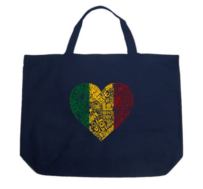 Los Angeles Pop Art One Love Heart Tote