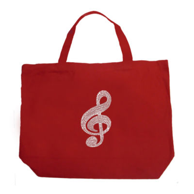 Los Angeles Pop Art Music Note Tote