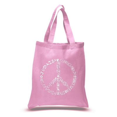 Los Angeles Pop Art Different Faiths Peace Sign Tote