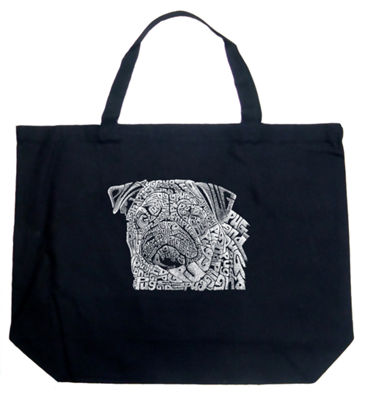 Los Angeles Pop Art Pug Face Tote