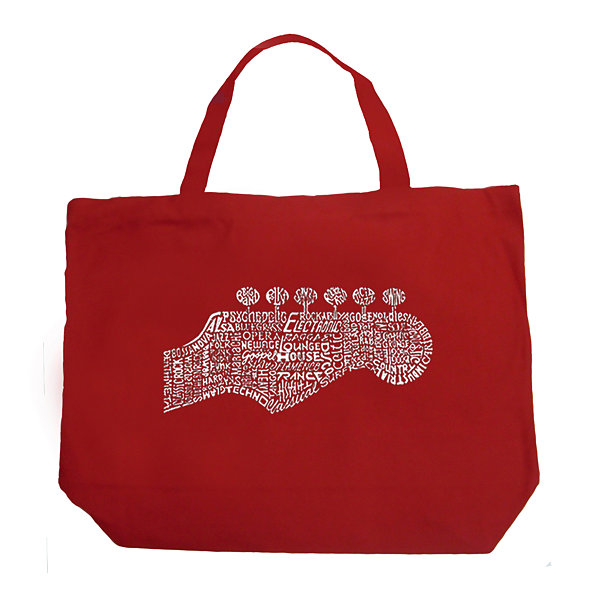 Los Angeles Pop Art Guitar Head Tote