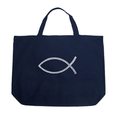 Los Angeles Pop Art Jesus Fish Tote