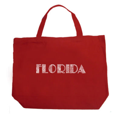 Los Angeles Pop Art Popular Cities In Florida Tote