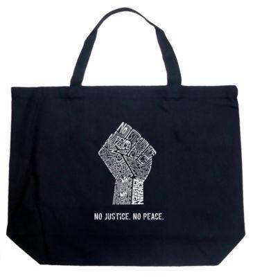 Los Angeles Pop Art No Justice; No Peace Tote