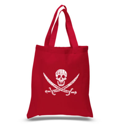 Los Angeles Pop Art Lyrics To A Legendary Pirate Song Tote