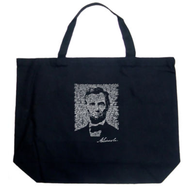 Los Angeles Pop Art Abraham Lincoln - Gettysburg Address Tote