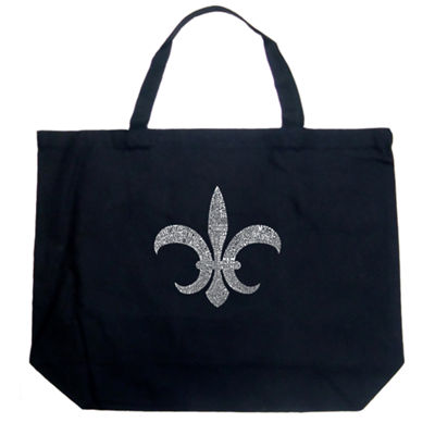 Los Angeles Pop Art Fleur De Lis - Popular Louisiana Cities Tote