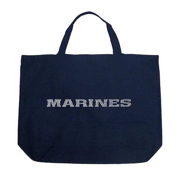 Los Angeles Pop Art Lyrics To The Marines Hymn Tote