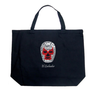 Los Angeles Pop Art Mexican Wrestling Mask Tote