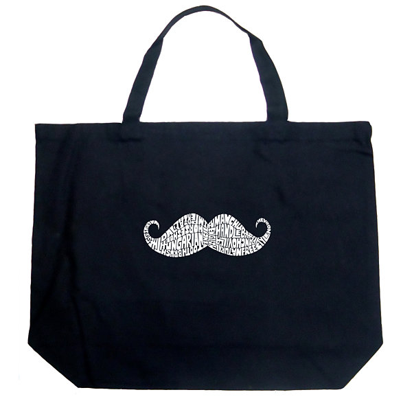 Los Angeles Pop Art Ways To Style A Moustache Tote