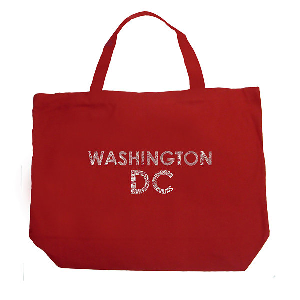 Los Angeles Pop Art Washington DC Neighborhoods Tote