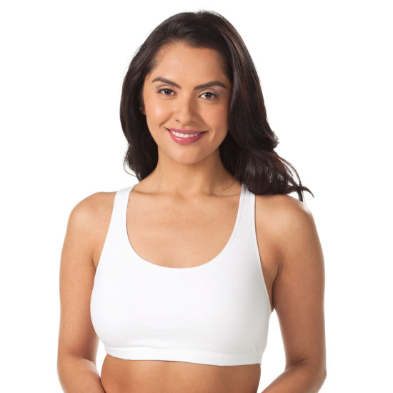 Leading Lady® Cotton Racerback Sports Bra