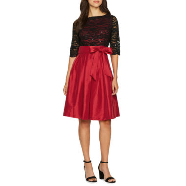 Melrose Elbow Sleeve Lace Party Dress