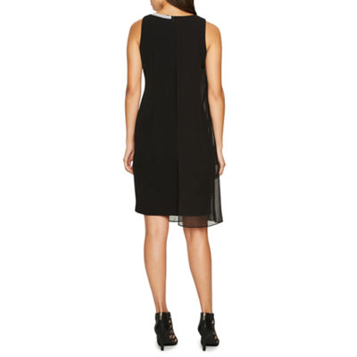 S. L. Fashions Sleeveless Embellished Shift Dress