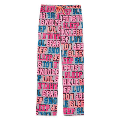 Total Girl Jersey Pajama Pants-Big Kid Girls Plus