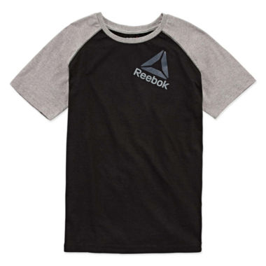 Reebok Short Sleeve Crew Neck T-Shirt-Big Kid Boys