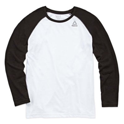 Reebok Long Sleeve Crew Neck T-Shirt-Big Kid Boys