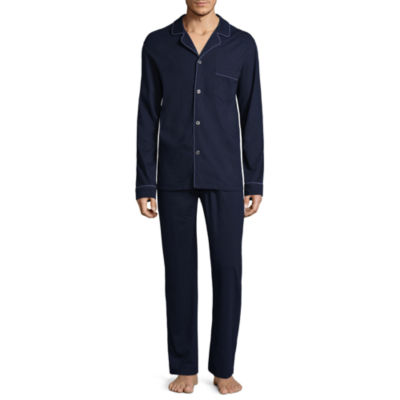 Stafford Knit Notch Collar Pajama Set