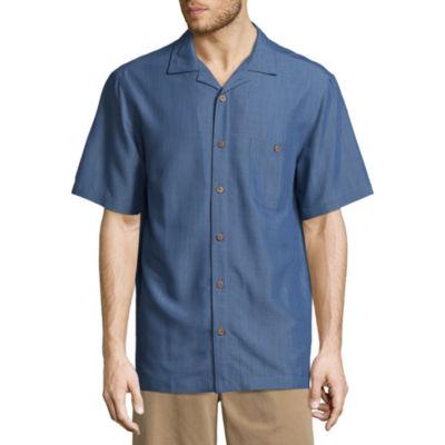 Island Shores Mens Short Sleeve Camp Shirt