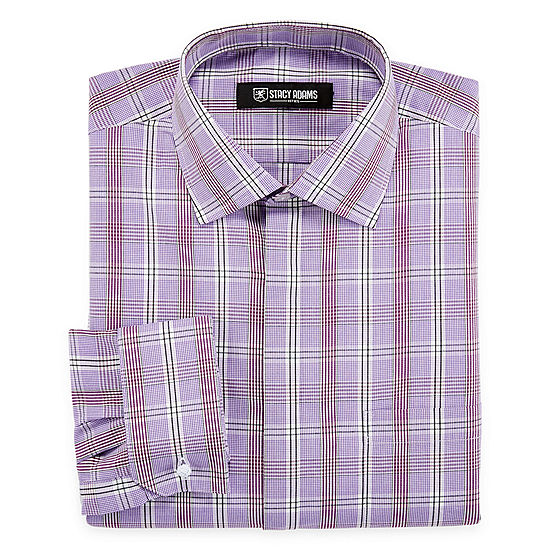 4a46e708c075 Stacy Adams Long Sleeve Woven Checked Dress Shirt - JCPenney
