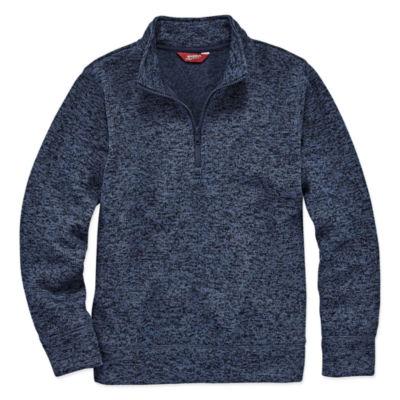 Arizona Mock Neck Long Sleeve Pullover Sweater - Big Kid