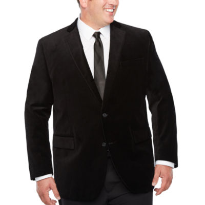 J.Ferrar Classic Fit Velvet Sport Coat - Big and Tall