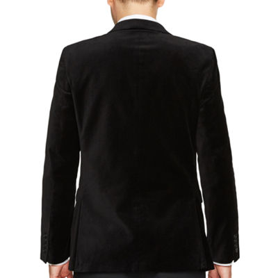 JF J.Ferrar Slim Fit Velvet Sport Coat