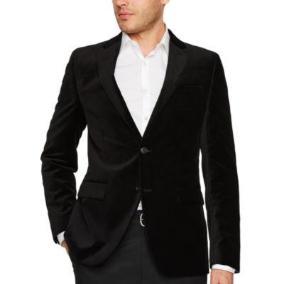JF J.Ferrar Slim Fit Velvet Sport Coat