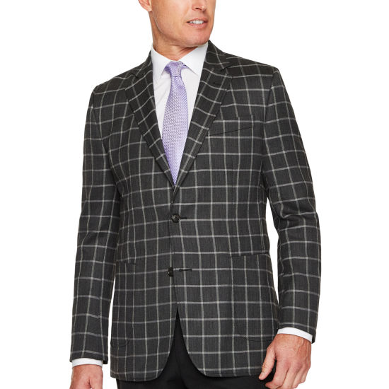 Stafford Classic Fit Woven Squares Sport Coat