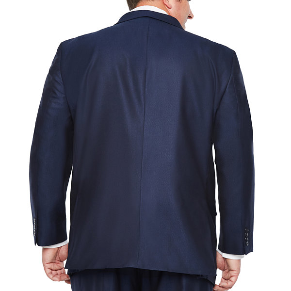 J.Ferrar Stripe Classic Fit Stretch Suit Jacket-Big and Tall