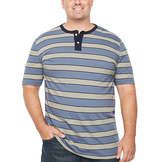 The Foundry Big & Tall Supply Co. Foundry Mens Short Sleeve Henley Shirt-Big and Tall