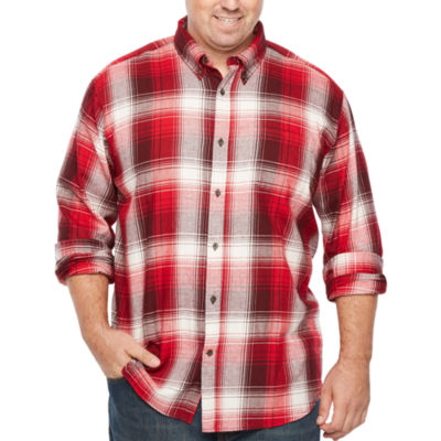 The Foundry Big & Tall Supply Co. Long Sleeve Flannel Shirt-Big and Tall
