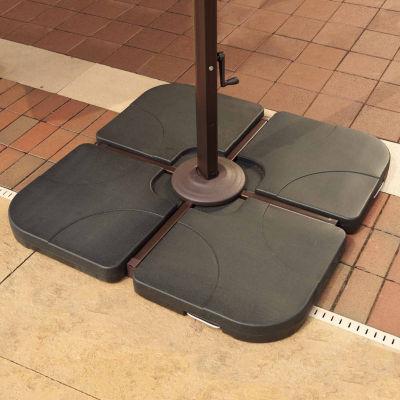 35-Lb Resin Cross-Arm Umbrella Base Weights