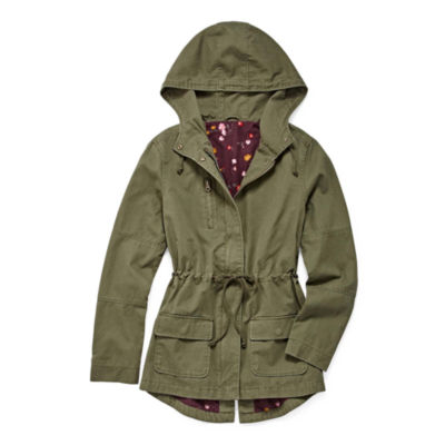 Arizona Twill Floral Lined Jacket-Juniors